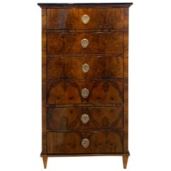 Biedermeier Chiffonier / High Chest with 6 Drawers, Walnut, Austria, circa 1820