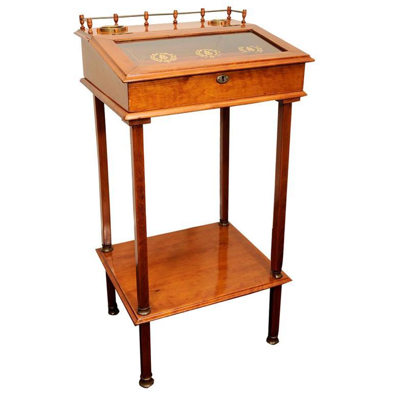 Biedermeier Cigar Desk For Sale