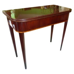 Biedermeier Console Table Made of Mahogany with Poplar and Maple Veneer