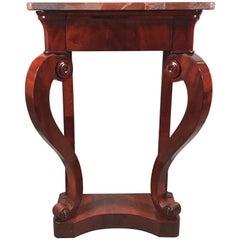 Biedermeier Console Table, North German, 1820, Mahogany