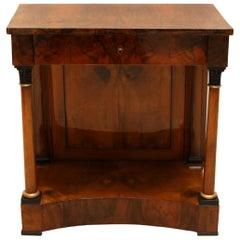 Biedermeier Console Table, Walnut Veneer, South Germany, circa 1820