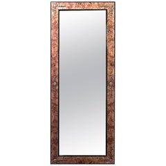 Biedermeier Danish Style 20th Century Burl Ash Wall Mirror