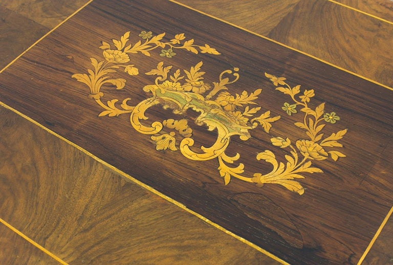 Early 19th Century Biedermeier Decorative Thread Table with Marquetry Details, France, circa 1820 For Sale