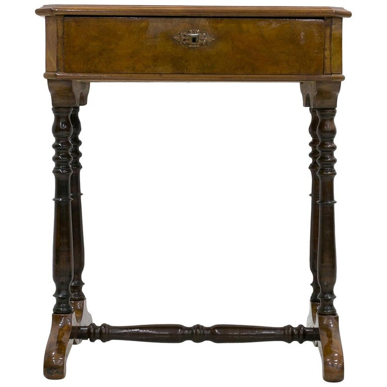 Biedermeier Decorative Thread Table with Marquetry Details, France, circa 1820 For Sale