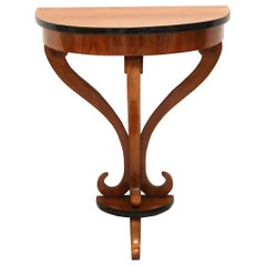 Biedermeier Demilune Console Table, Cherrywood, South Germany, circa 1830