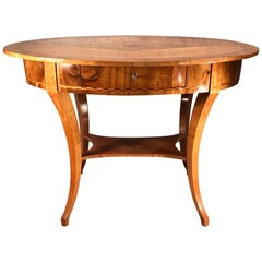Biedermeier Desk or Side Table, South Germany 1820, Cherry Veneer