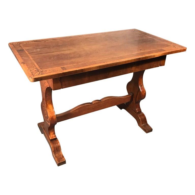 Biedermeier Desk, Walnut Veneer, Vienna, 1820-1830 For Sale