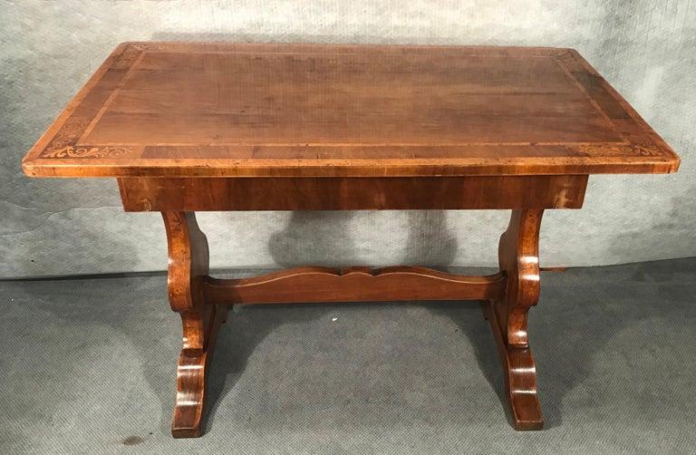 Marquetry Biedermeier Desk, Walnut Veneer, Vienna, 1820-1830 For Sale