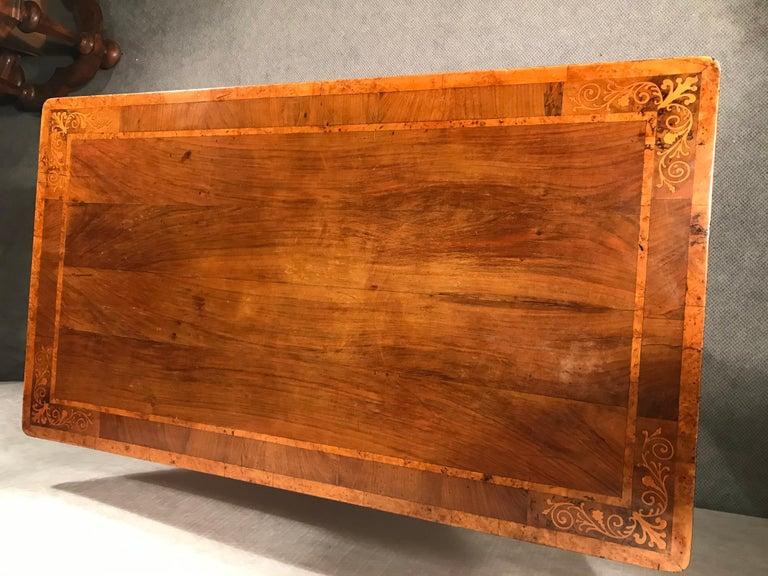 Early 19th Century Biedermeier Desk, Walnut Veneer, Vienna, 1820-1830 For Sale