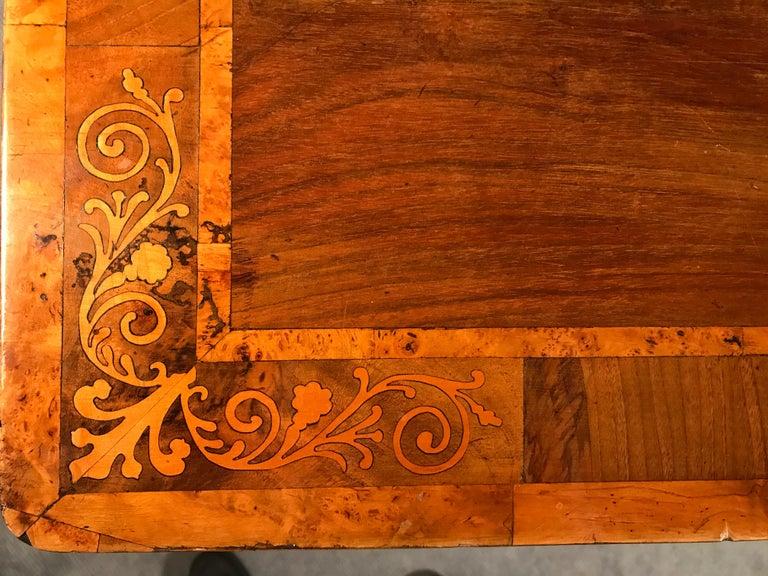 Maple Biedermeier Desk, Walnut Veneer, Vienna, 1820-1830 For Sale