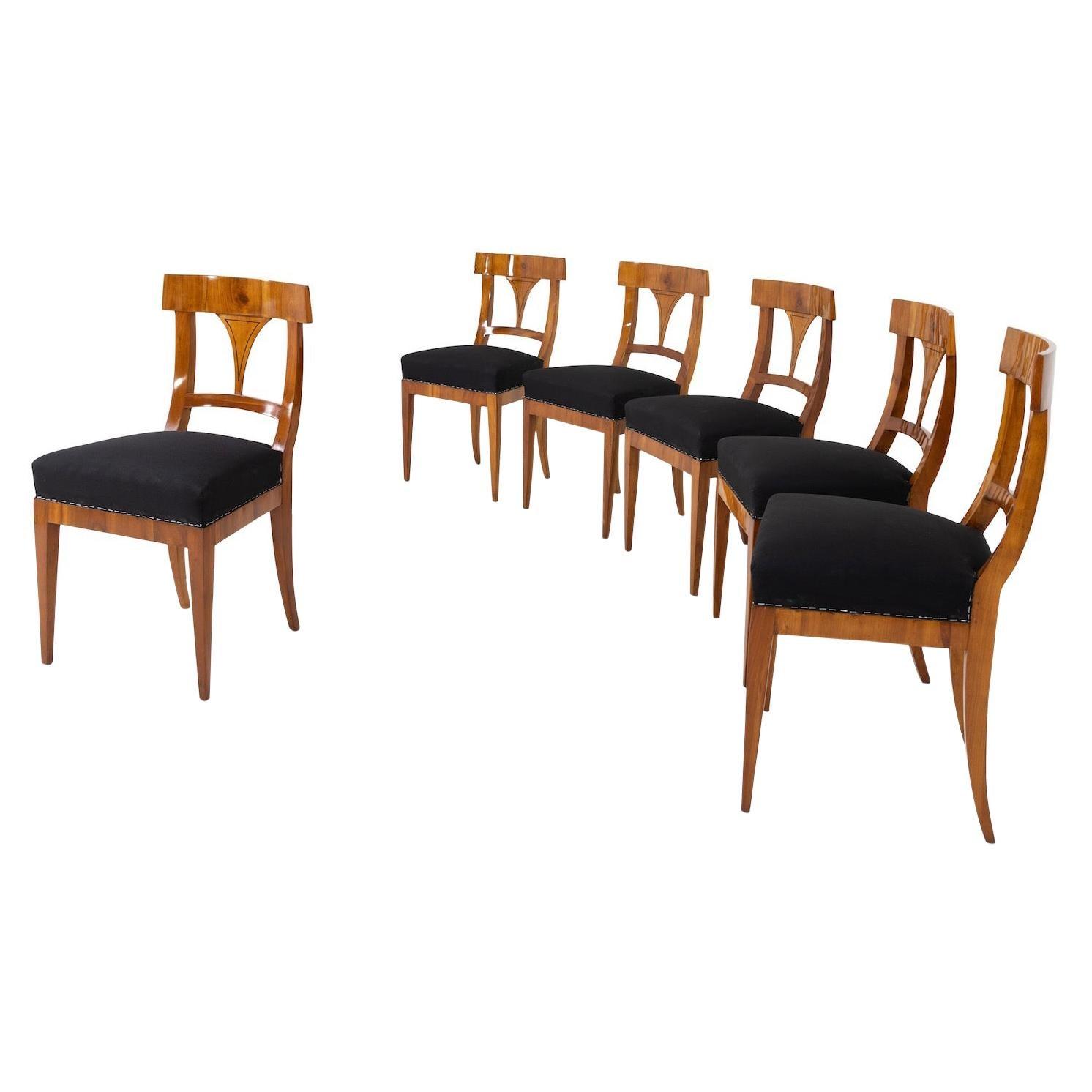 Biedermeier Dining Room Chairs, around 1820