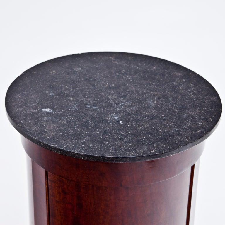 European Biedermeier Drum Cabinet, circa 1820-1830 For Sale