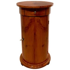 Biedermeier Drum Table, Cherry Veneer, South Germany, circa 1820