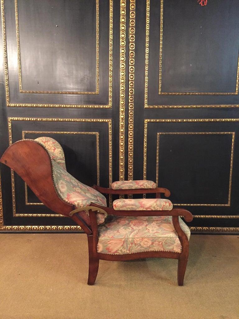 Biedermeier Ears Armchair to Recliner Armchair from 1820 For Sale 4