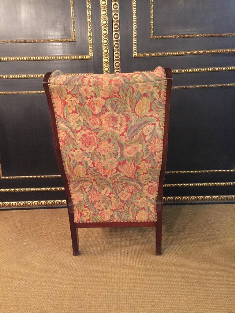 Biedermeier Ears Armchair to Recliner Armchair from 1820 For Sale 6