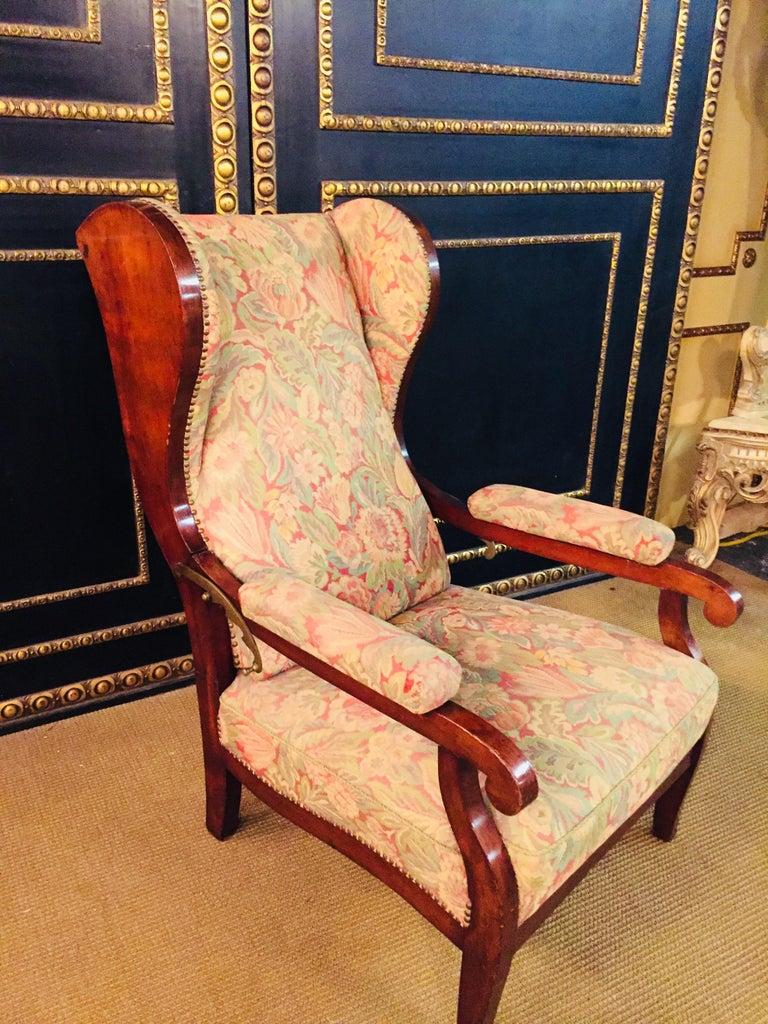 Biedermeier Ears Armchair to Recliner Armchair from 1820 For Sale 7