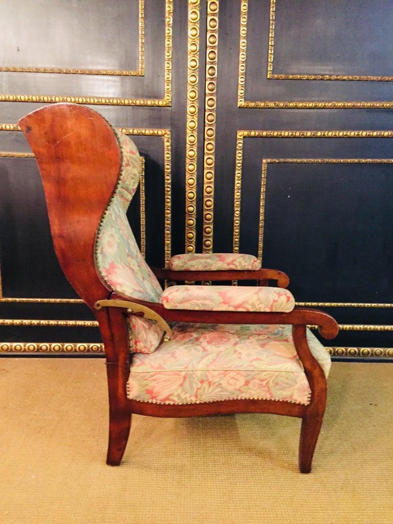 Biedermeier Ears Armchair to Recliner Armchair from 1820 For Sale 9