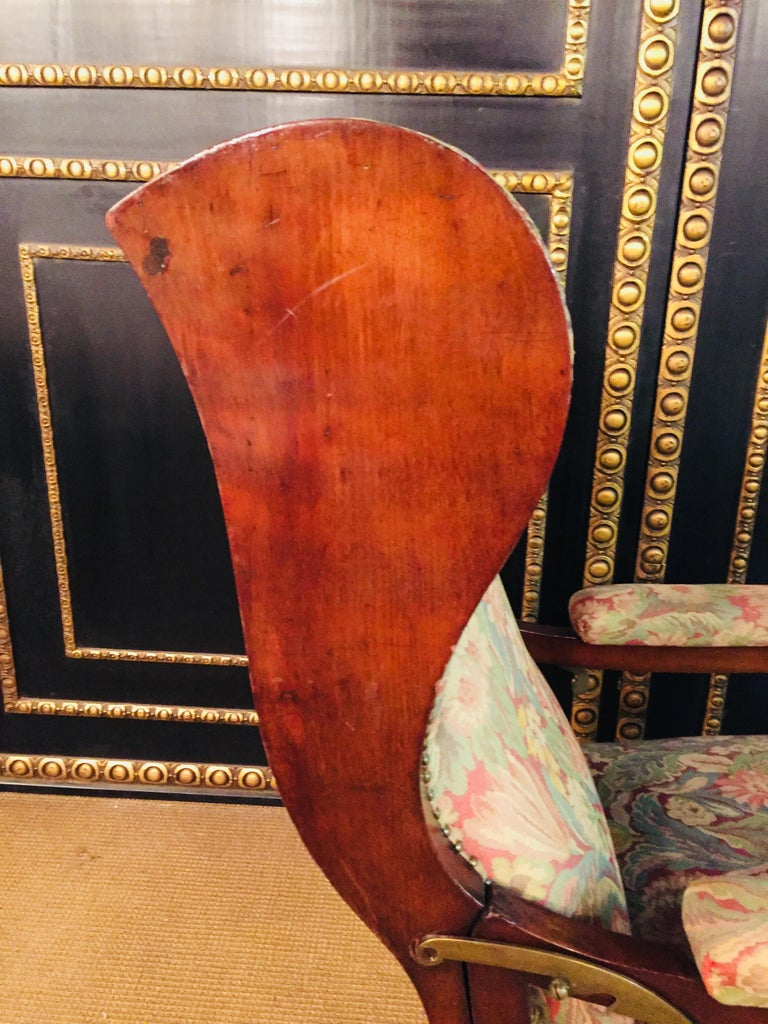 Biedermeier Ears Armchair to Recliner Armchair from 1820 For Sale 10