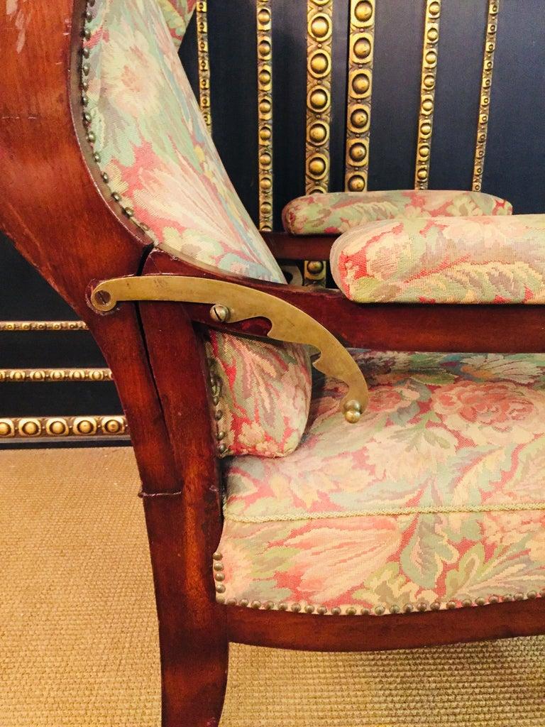Biedermeier Ears Armchair to Recliner Armchair from 1820 For Sale 11
