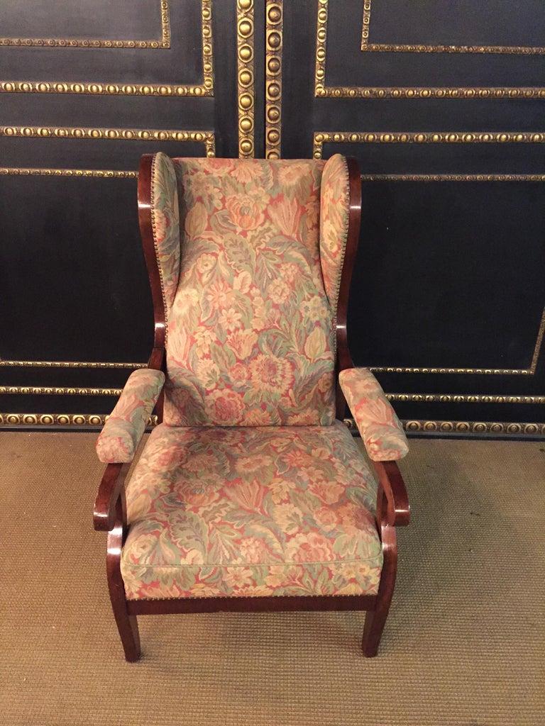 19th Century Biedermeier Ears Armchair to Recliner Armchair from 1820 For Sale