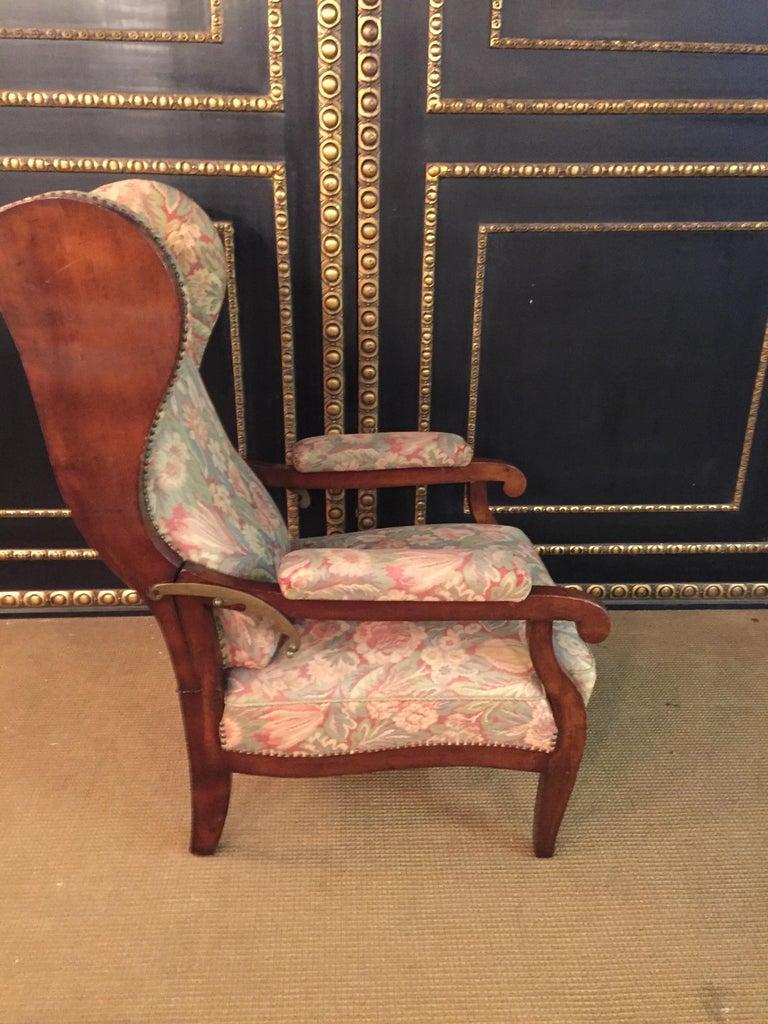 Biedermeier Ears Armchair to Recliner Armchair from 1820 For Sale 1