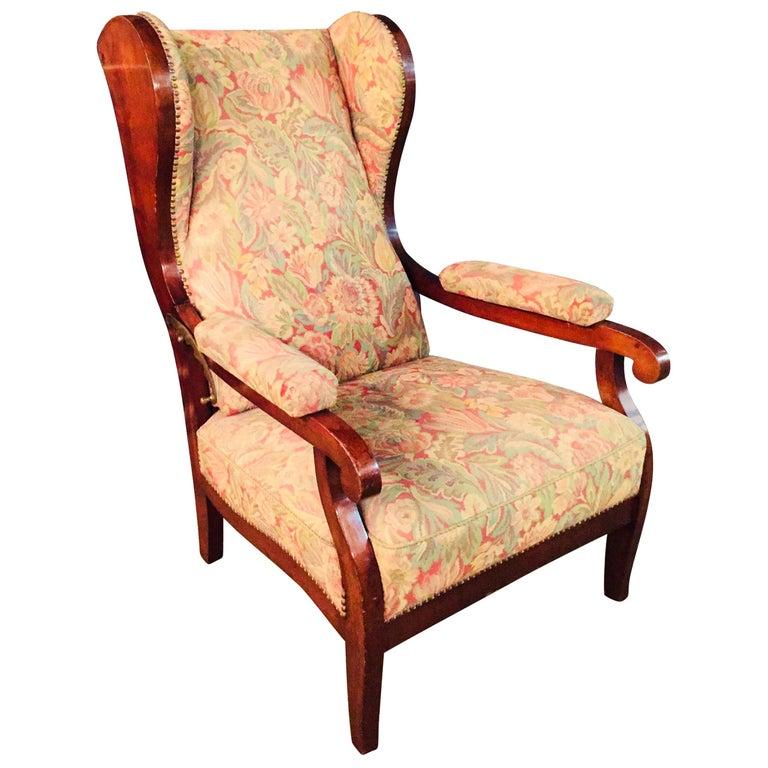 Biedermeier Ears Armchair to Recliner Armchair from 1820 For Sale