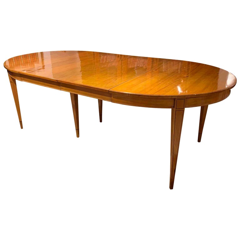 Biedermeier Expandable Table, Cherrywood, Southwest Germany, 19th Century For Sale