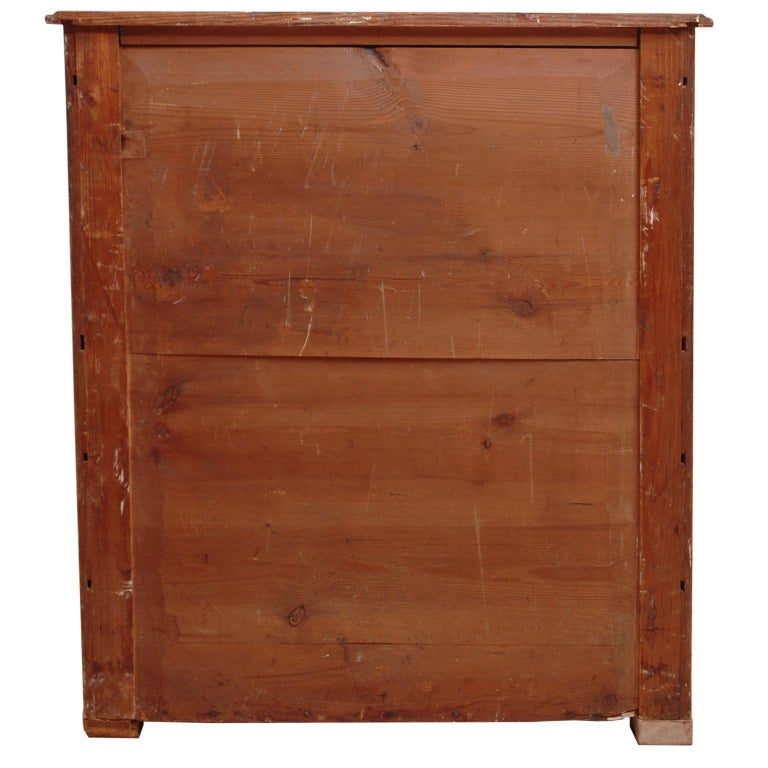 North German Fall-Front Secretary in Pine and Birch, circa 1850 For Sale 4