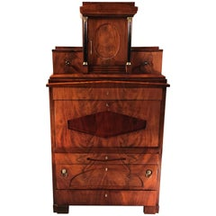Biedermeier Fall Top Secretaire, Berlin 1820 with Exquisite Interior