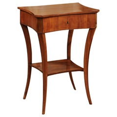 Biedermeier Fruitwood and Ash Side Table, Early 19th Century
