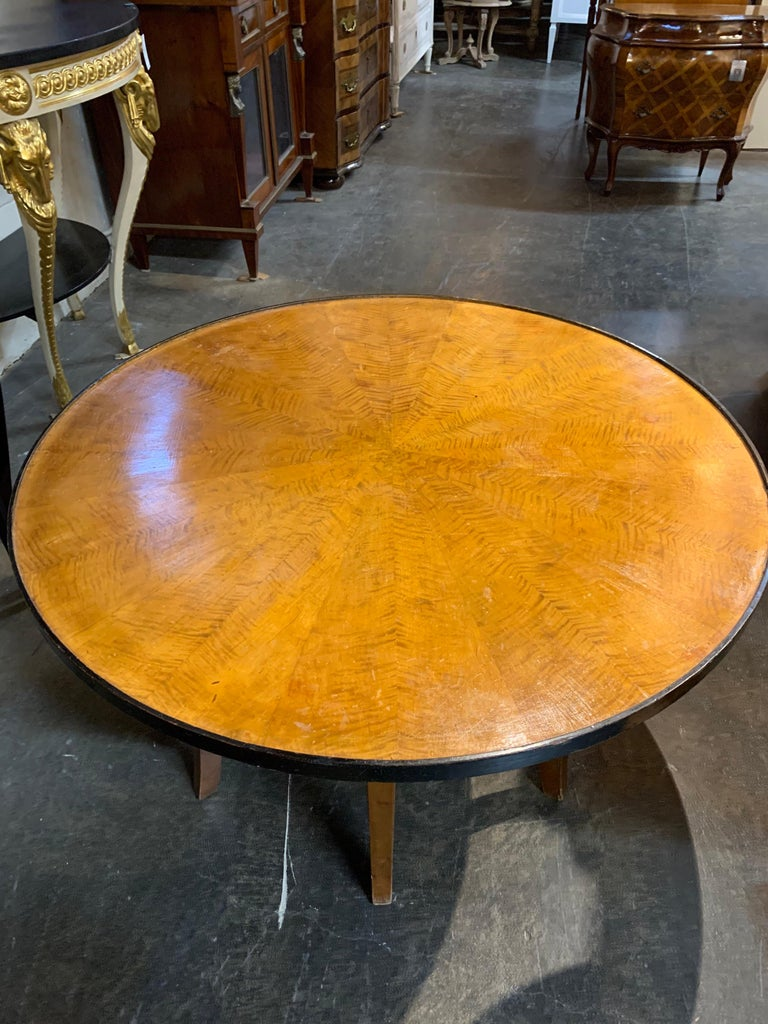 Biedermeier Fruitwood Ebonized Cocktail Table In Good Condition For Sale In Dallas, TX