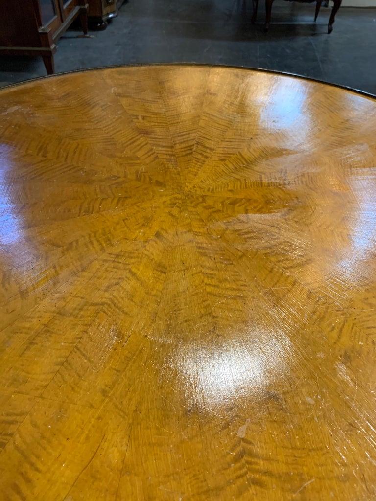 20th Century Biedermeier Fruitwood Ebonized Cocktail Table For Sale