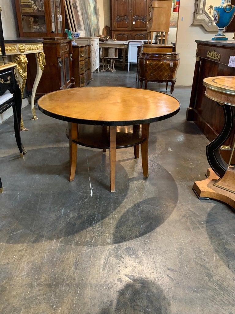 Biedermeier Fruitwood Ebonized Cocktail Table For Sale 2
