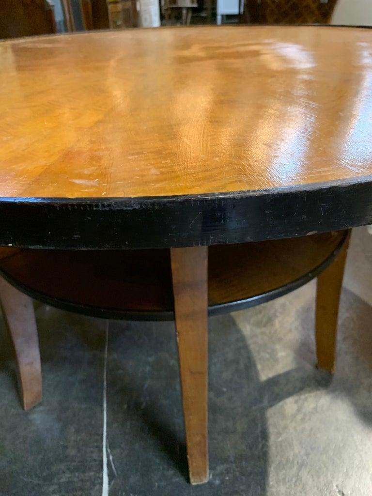 Biedermeier Fruitwood Ebonized Cocktail Table For Sale 3