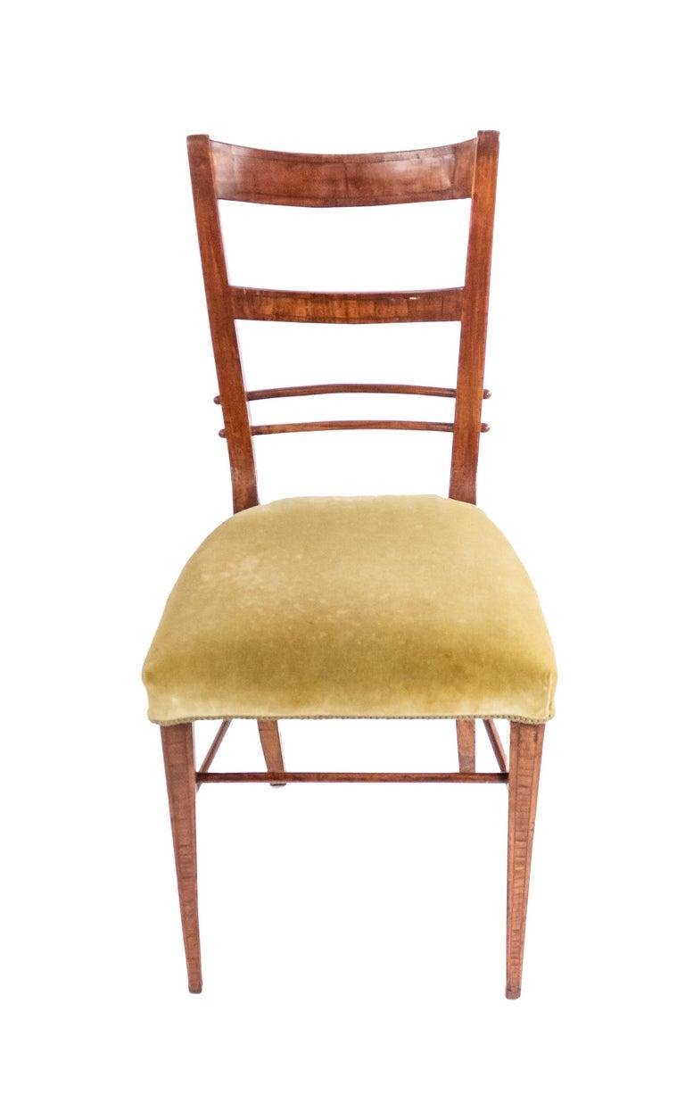 European Biedermeier Ladder Back Side Chairs For Sale