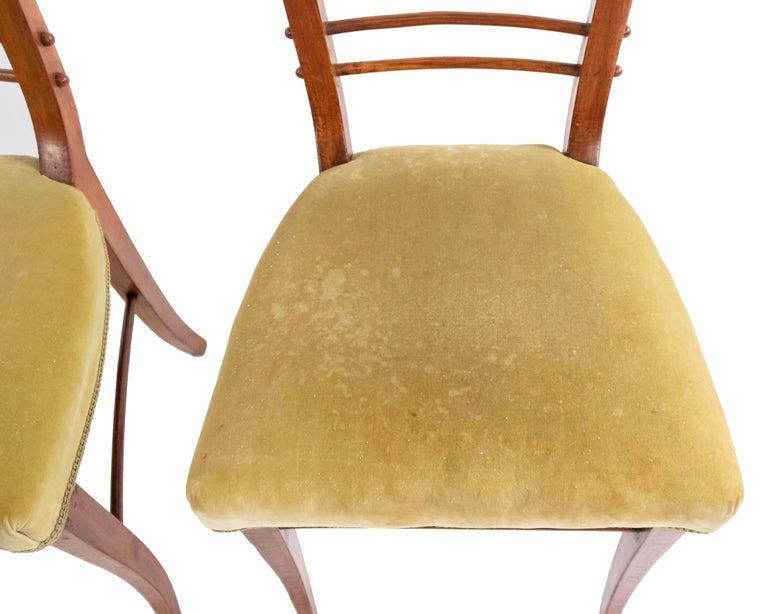 19th Century Biedermeier Ladder Back Side Chairs For Sale