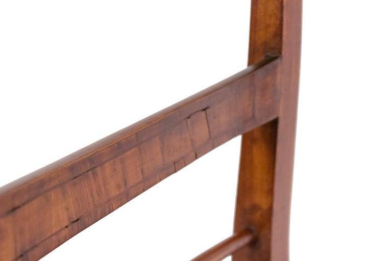 Wood Biedermeier Ladder Back Side Chairs For Sale