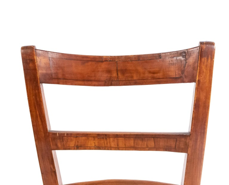 Biedermeier Ladder Back Side Chairs For Sale 1