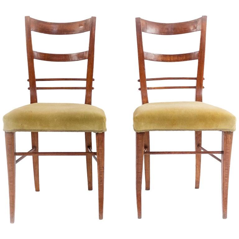 Biedermeier Ladder Back Side Chairs For Sale