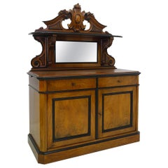 Biedermeier Louise Philippe Transition Sideboard circa 1860 Made of Walnut