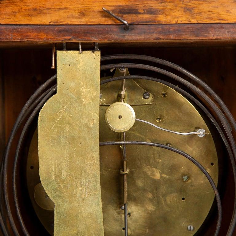 Biedermeier Mantle Clock Walnut with Ormolu Mounts, circa 1820 For Sale 7