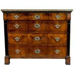 Biedermeier Marble-Top Chest