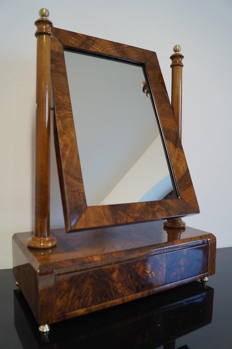 Walnut Biedermeier Mini Dressing Table from 1820 For Sale