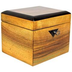 Biedermeier Nut Wood Jewelry Box with Ebonized Edges, Austria, circa 1840