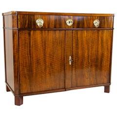 Biedermeier Nutwood Trumeau Commode/ Dresser, Austria, circa 1825