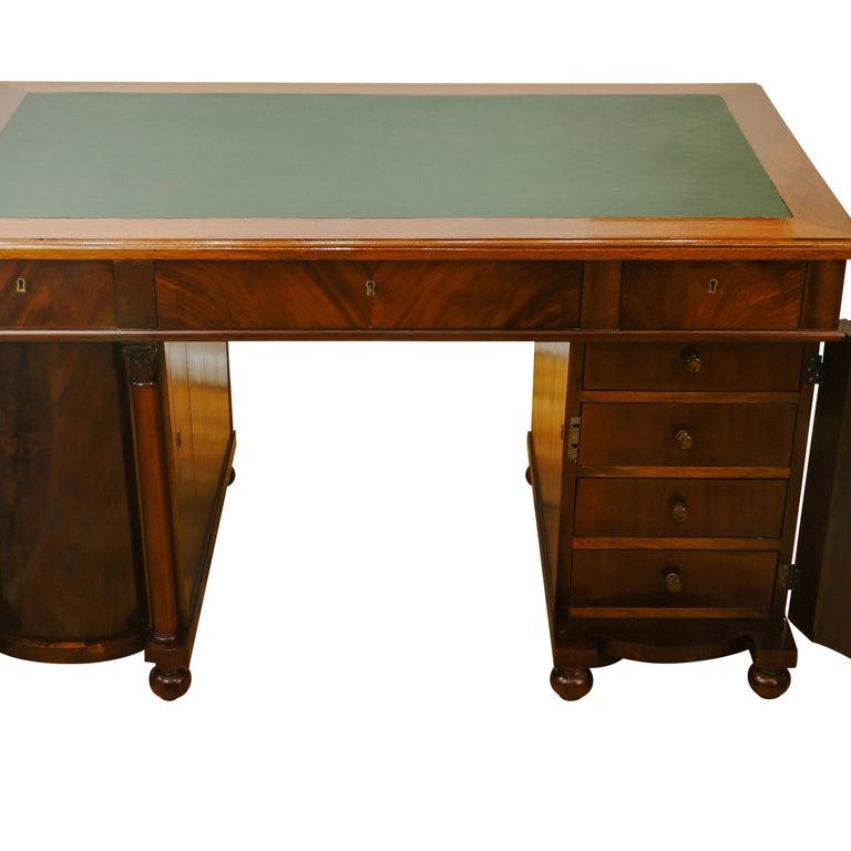 19th Century Biedermeier Office Desk, Sweden, 1880 For Sale