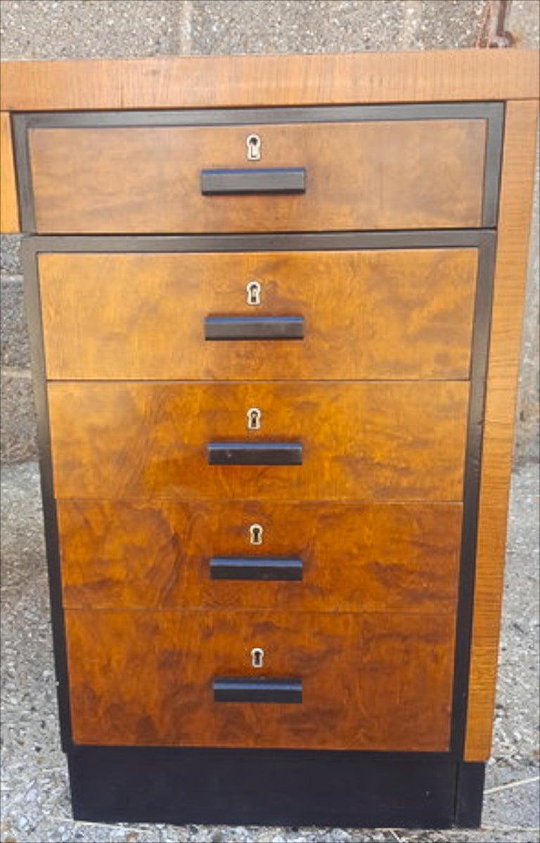 Swedish Biedermeier Partners Pedestal Desk Ormolu Style Detail, Early 20th Century For Sale