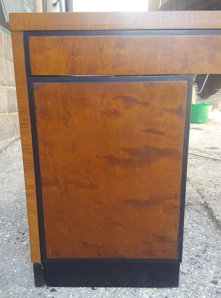 Polished Biedermeier Partners Pedestal Desk Ormolu Style Detail, Early 20th Century For Sale