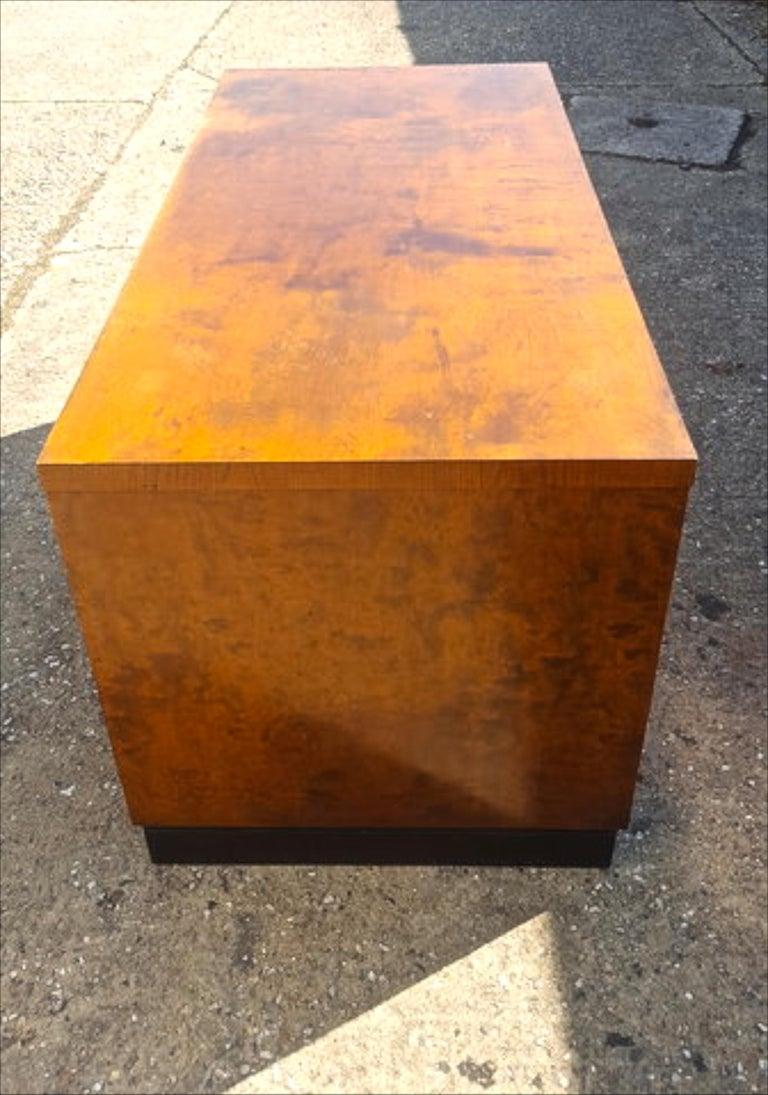Birch Biedermeier Partners Pedestal Desk Ormolu Style Detail, Early 20th Century For Sale