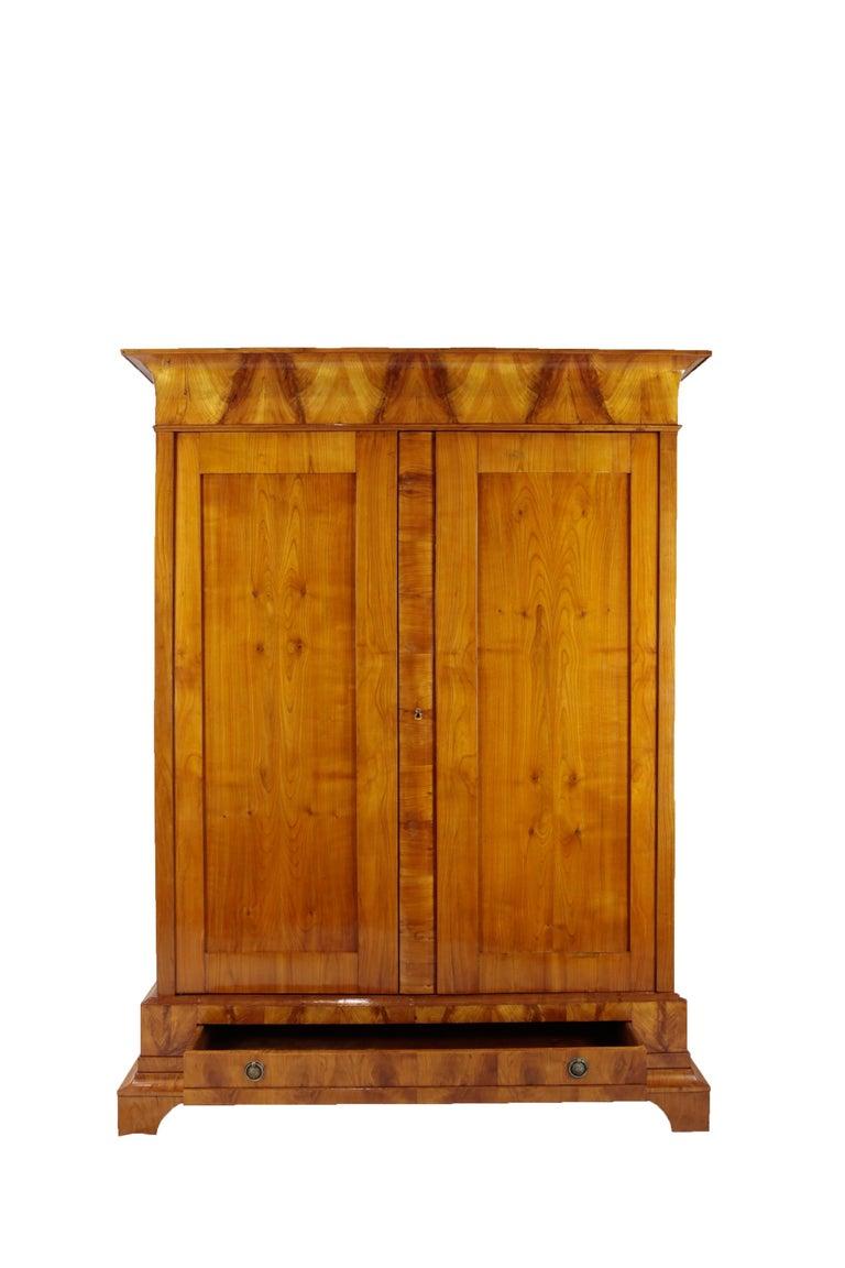 Biedermeier Period Cupboard Cabinet, Cherrywood, circa 1820 2